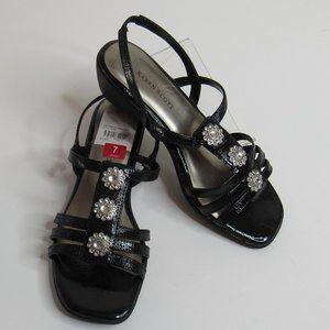 Karen Scott Davie Wedge T-strap Slingback Sandals